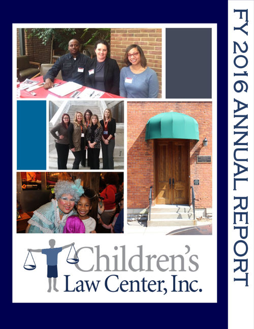 Children's Law Center Annual Report FY 2016