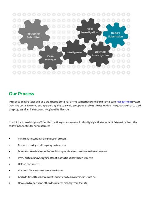 The Cotswold Group United Kingdom - Our Process