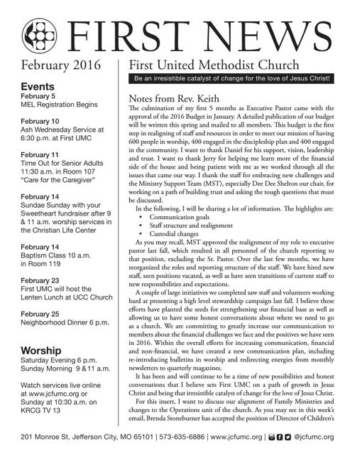 First News February 2016