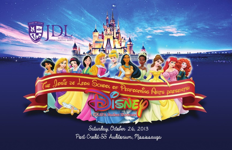JDL School of Performing Arts Disney Souvenir Program