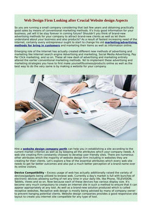 Web Design Firm Looking after Crucial Website design Aspects