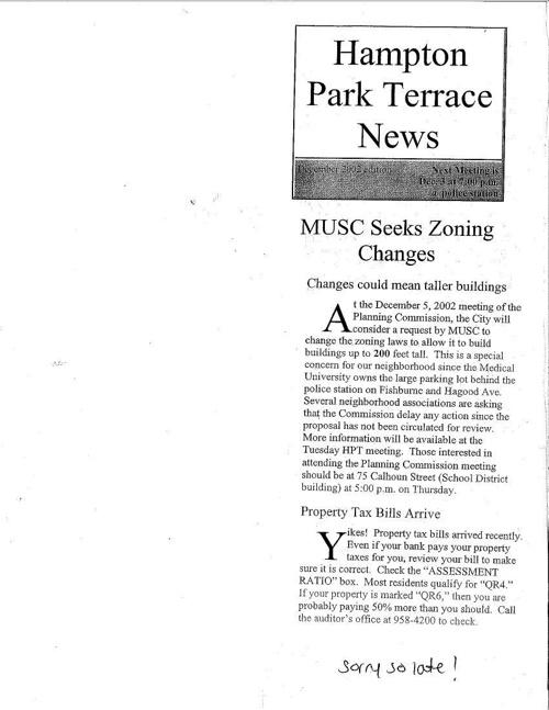 HPT Newsletter December 2002