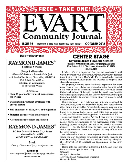 Evart Journal - October 2012