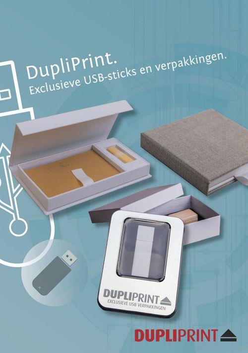 DupliPrint USB-sticks en verpakkingen