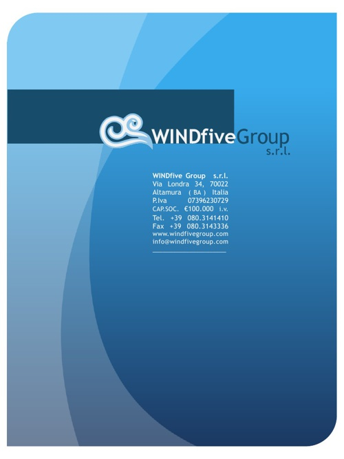 Presentazione WINDfive Group