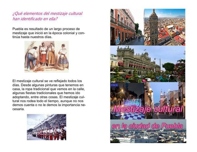 mestizaje cultural de la cuidad de Puebla