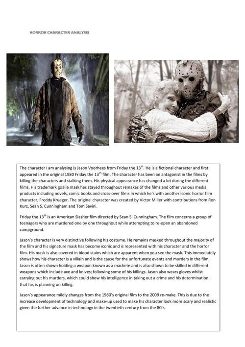 horror character analysis