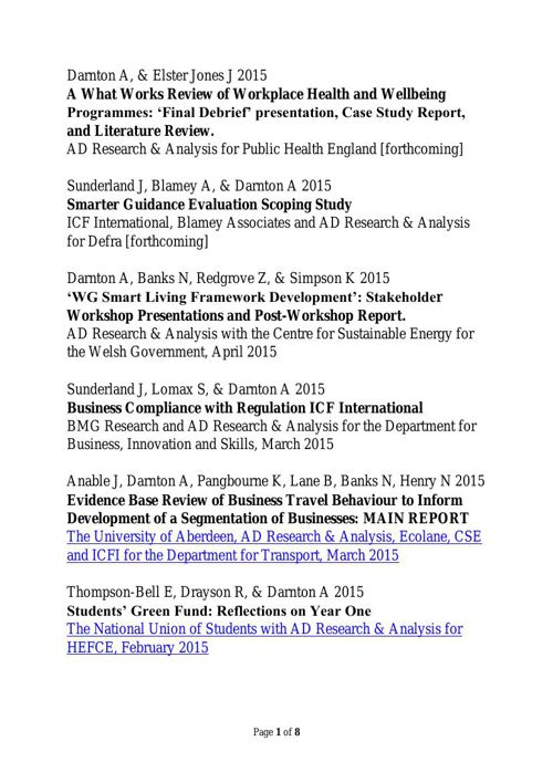 AD Research and Analysis Ltd