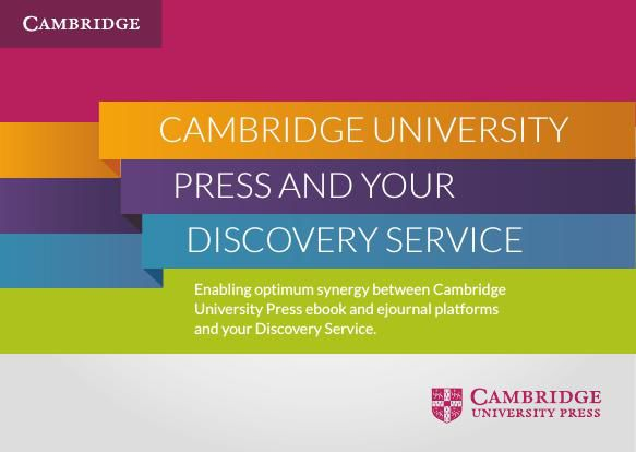 Cambridge University Press and your Discovery Service