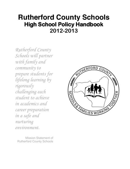 RCS Policy Handbook 2012-2013