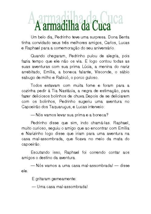 Narrativas Lobatianas - 4º ano B