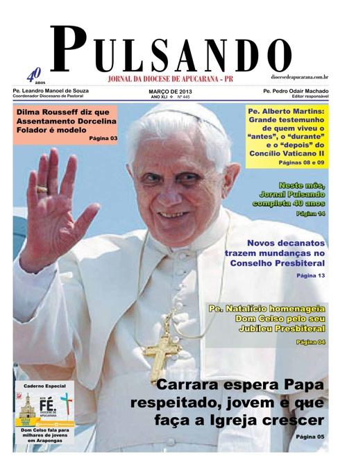Jornal Pulsando de Março de 2013