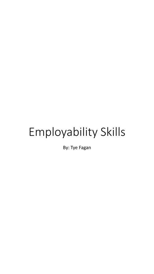 Employability Skills 3