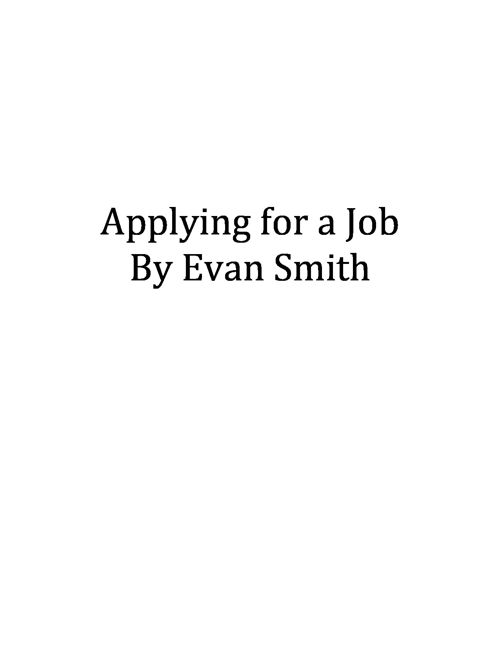 Booklet on Getting Hired