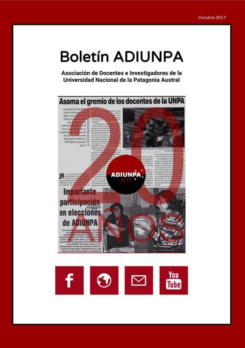 Boletín ADIUNPA, Octubre [1ra Quincena]