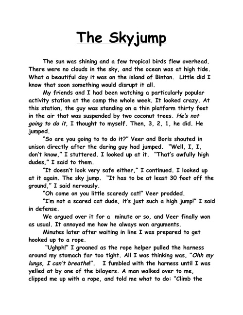 The SkyJump