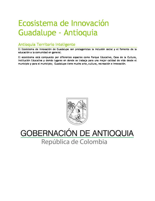 Ecosistema de Innovación de Guadalupe, pieza de comunicación