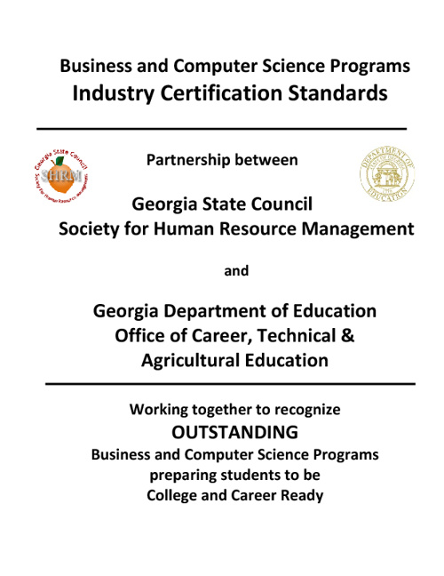 BCS Industry Certification Requirements 2012-13
