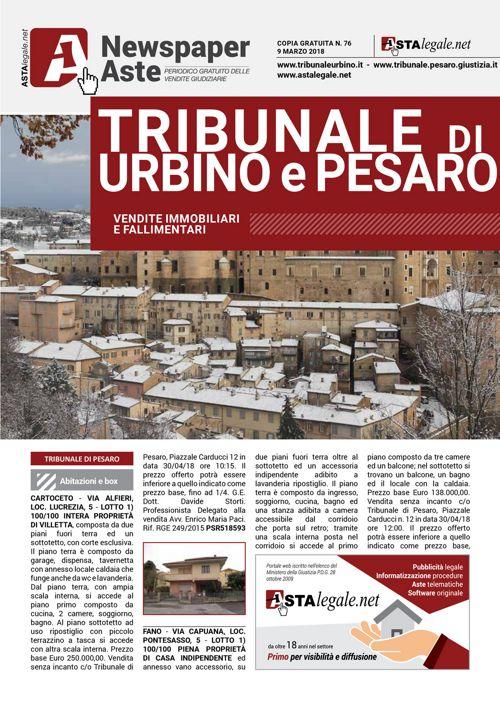 Urbino Pesaro 9 marzo 2018