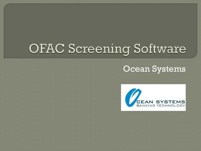 OFAC Screening Software