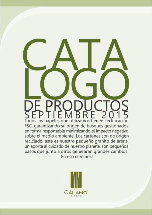 CATALOGO SEPTIEMBRE 2015