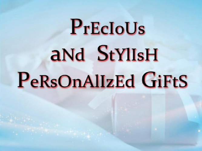 Collection of precious & stylish personalized gifts