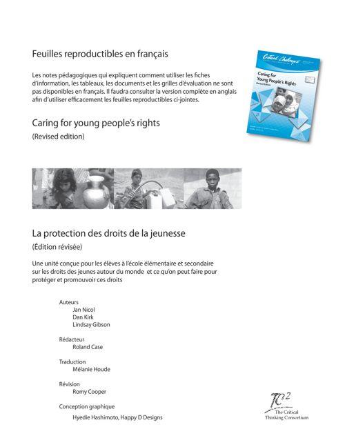 Protection des droits de la jeunesse (fiches reproductibles)