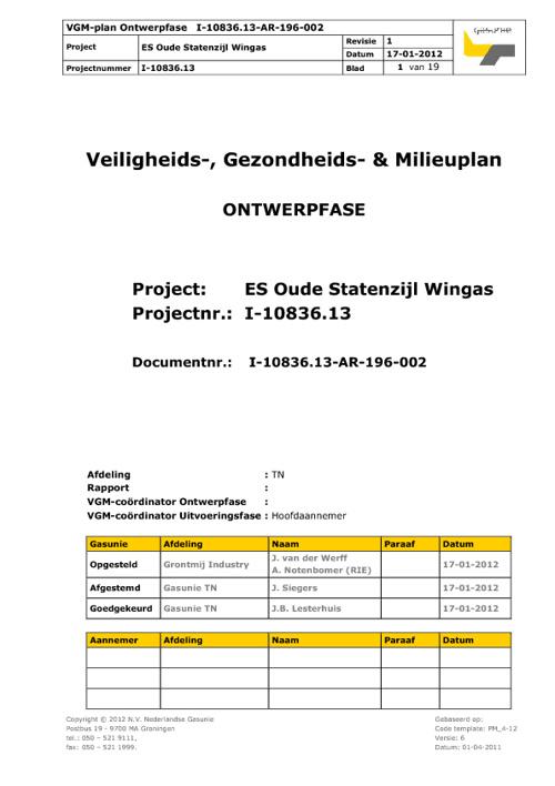 VGM-structuur Ontwerpfase OSz Wingas (concept nieuwe stijl)