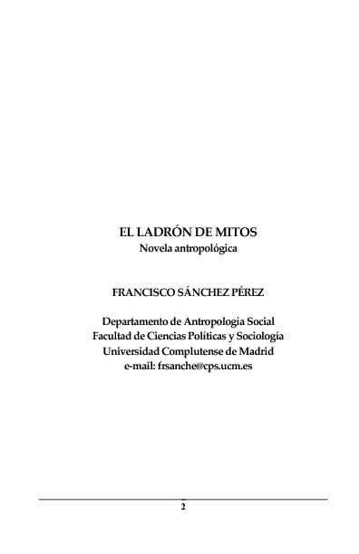 EL LADRÓN DE MITOS