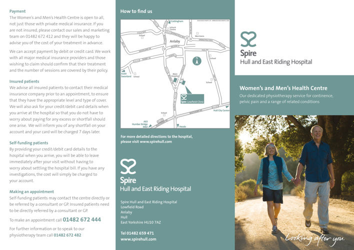 Spire Hull - Womens and Mens health leaflet