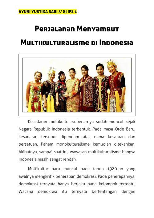 Perjalanan Menyambut Multikulturalisme di Indonesia
