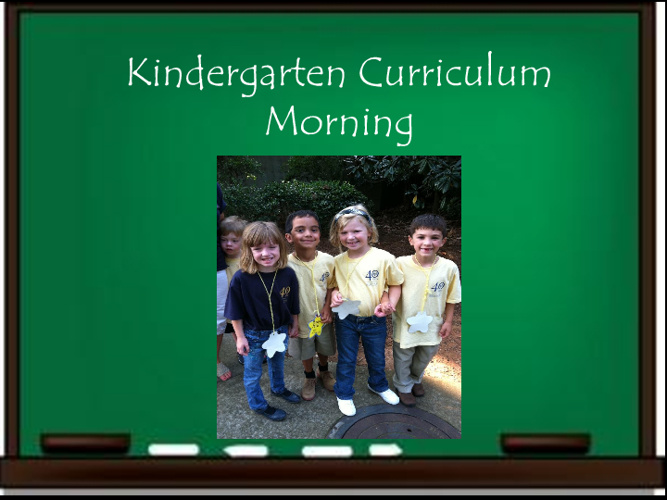 Kindergarten Curriculum Morning 2011