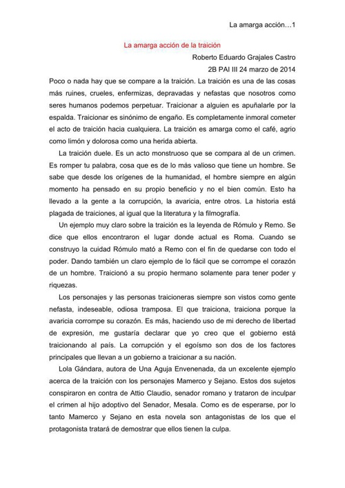 Ensayo Literario 2B Roberto Grajales