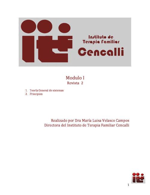 Revista 2 Teoria General de sistemas  Modulo I Diplomado TF