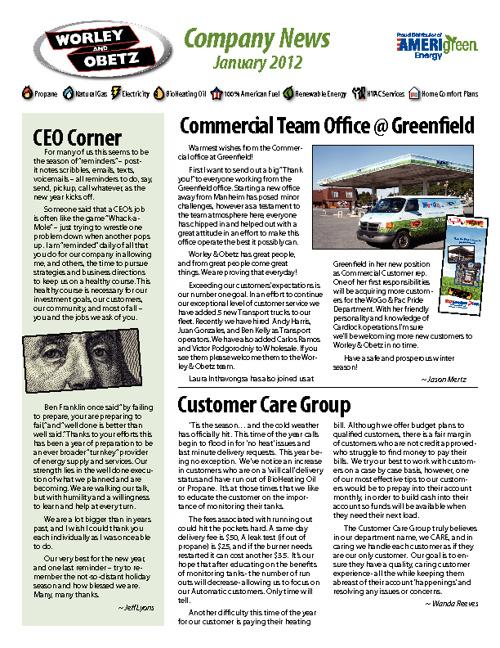 Worley & Obetz Company News Winter 2012