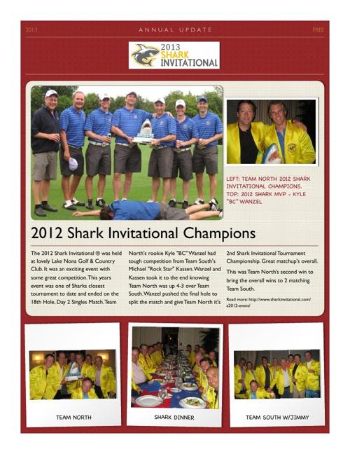 Shark Newsletter 2013 Test