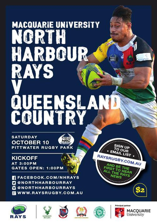 RAYS V QLD COUNTRY MATCH PROGRAM