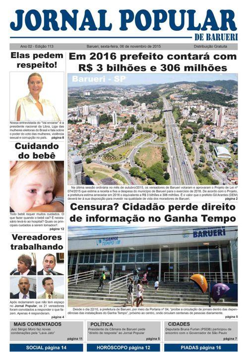 Versão On line da 113ª edição do Jornal Popular de Barueri
