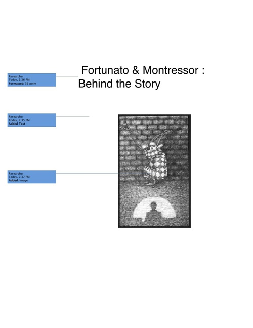 Fortunato & Montressor : Behind the Story