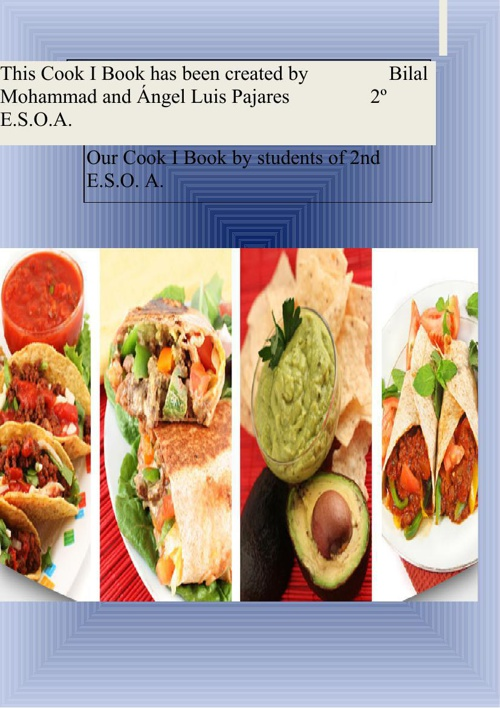 Our cook I book by Bilal and Ángel Luis 2ºA