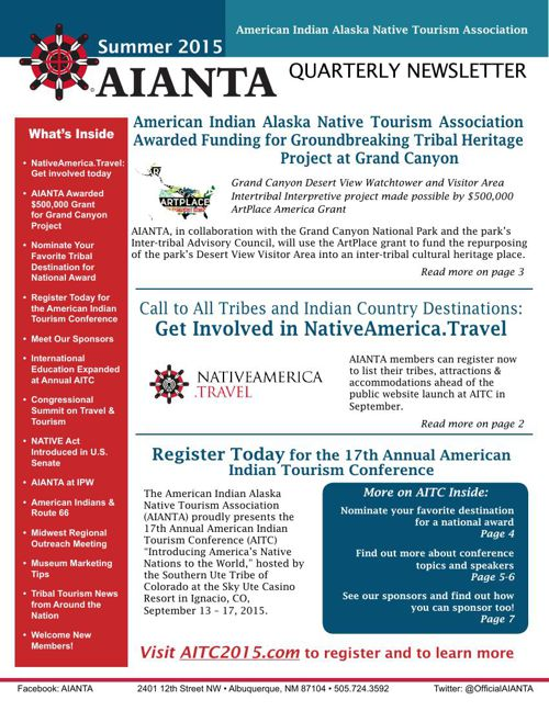 AIANTA Newsletter_Summer 2015