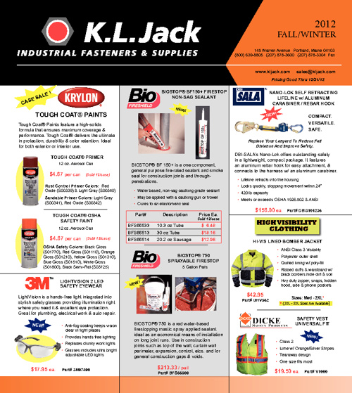 KL Jack Quarterly Flyer Fall / Winter 2012