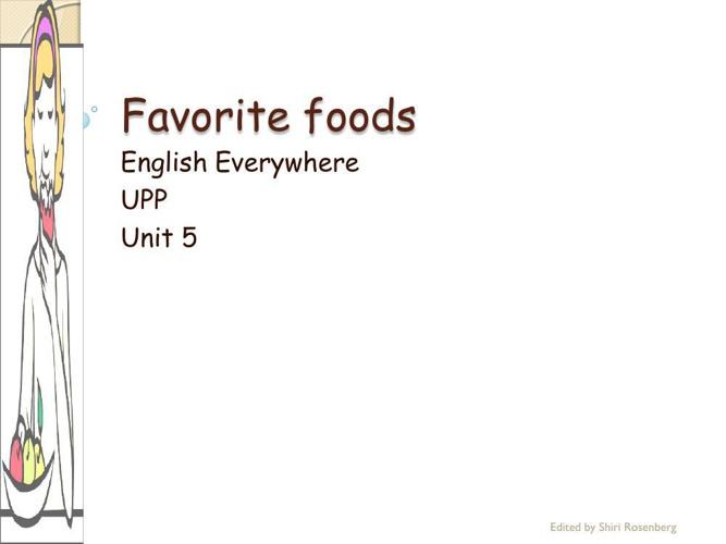 unit 5 food