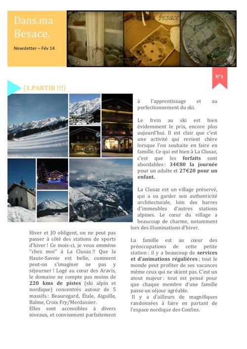 DansmaBesace - Newsletter N°1