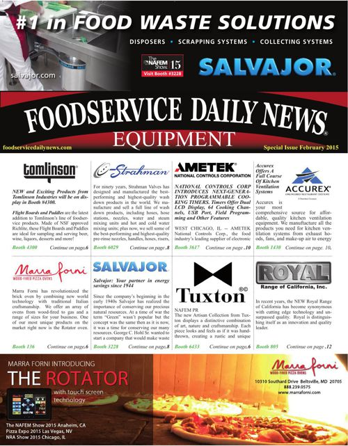 Foodservice Equipment Daily News FEB2015