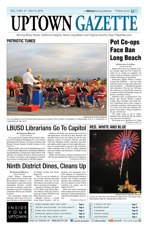 Uptown Gazette  |  July 6, 2012