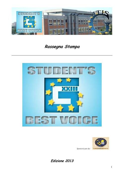 G STUDENT'S BEST VOICE 2013