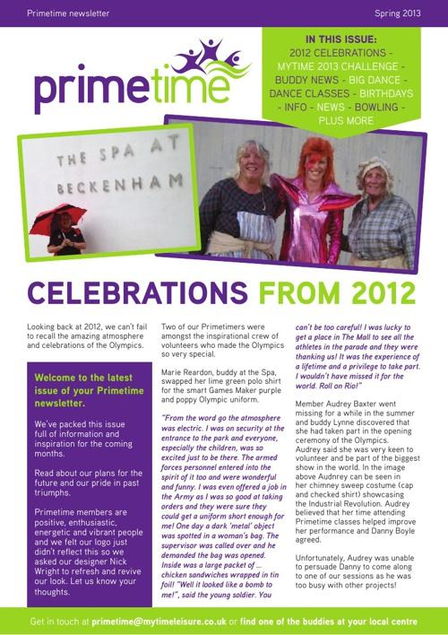 Primetime Newsletter - Spring 2013