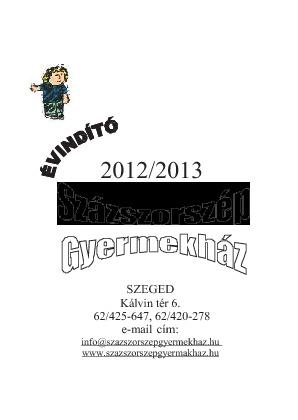 Évindító füzet2012_Százszorszép Gyermekház