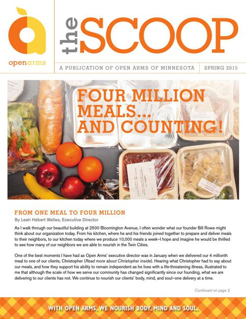 Open Arms of Minnesota: Scoop Spring 2015 Newsletter